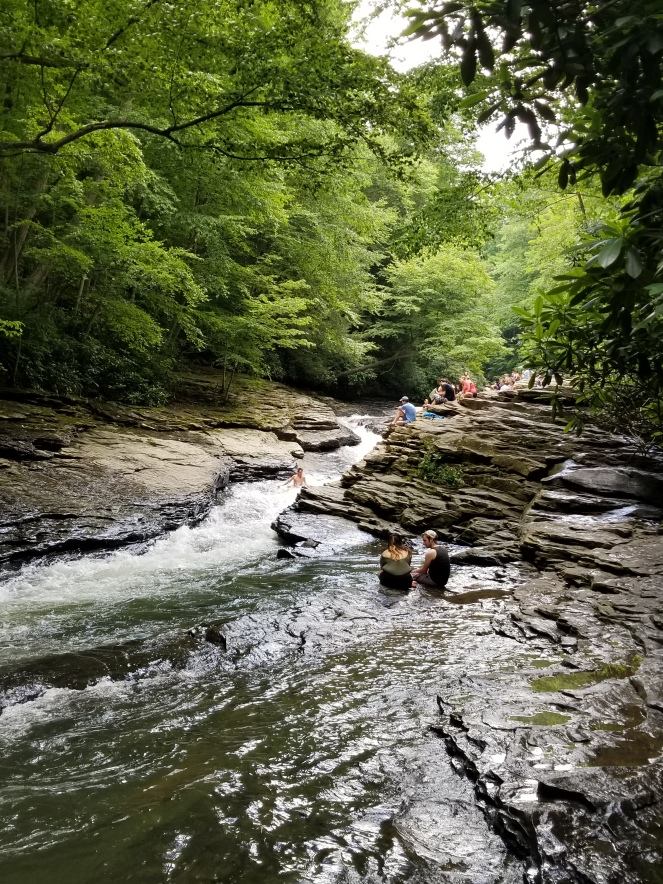 natural water slide at ohiopyle state park